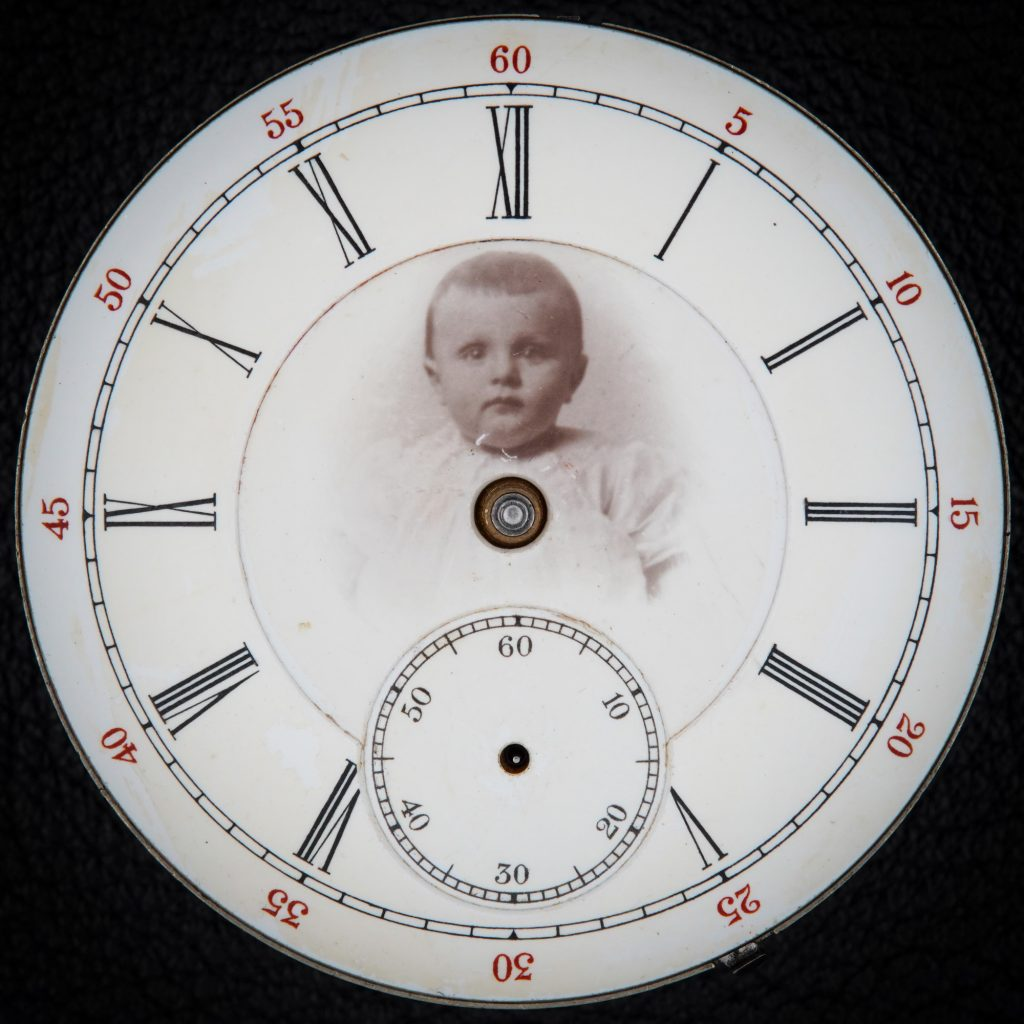 Enamel Watch Dial Featuring Portrait Photograph, c.1891