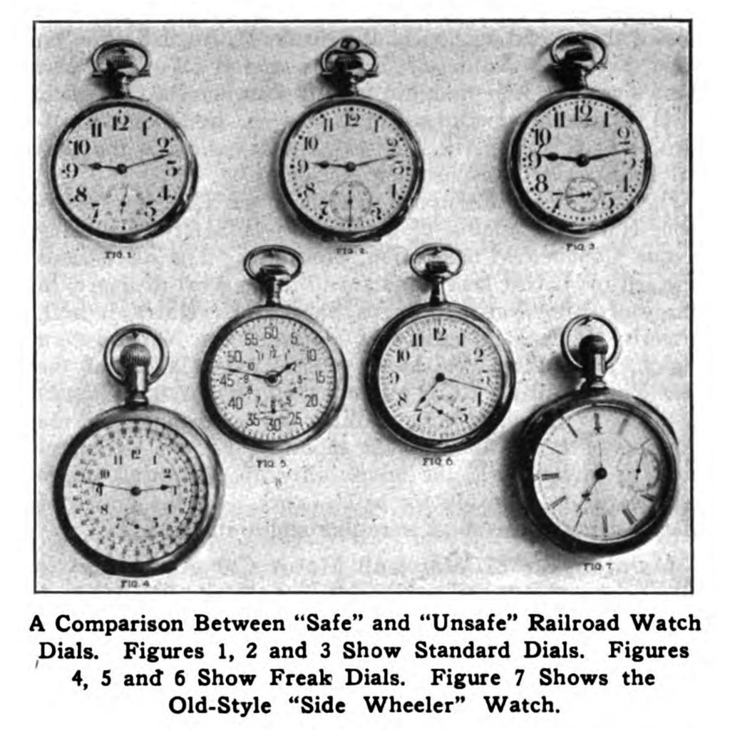 "Webb C. Ball's ""Freak Dials"" Comparison, Published in the October 8, 1920 Issue of Railway Age."