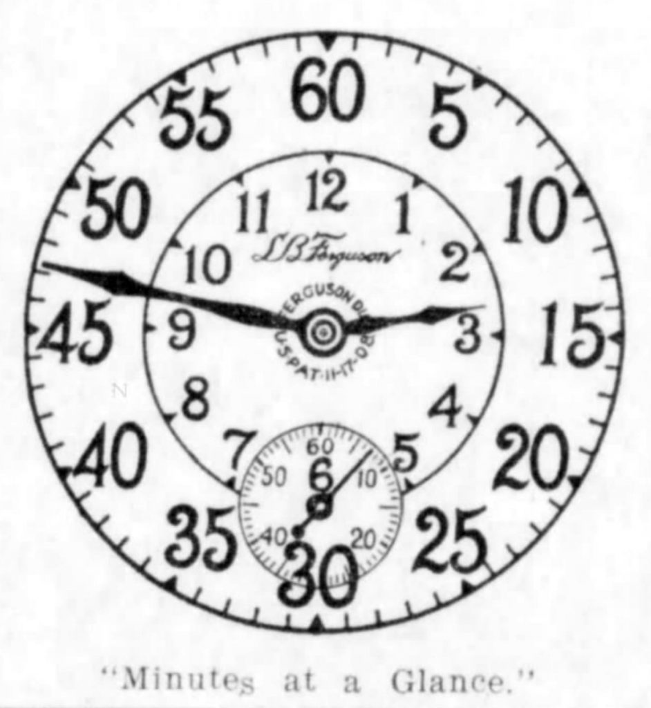 Illustration of the Ferguson Dial, Published in The Monroe News-Star, February 4, 1911