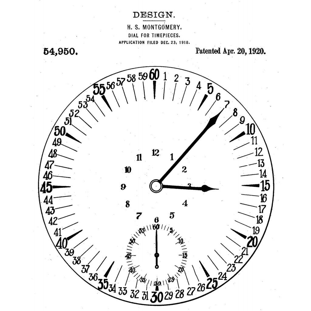 Montgomery Dial, 1920 Patent Illustration