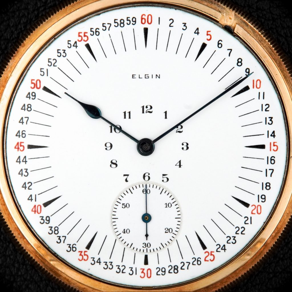 Montgomery's Type II Safety Dial, Fitted on an Elgin 16-Size Grade 453 Movement, c.1920