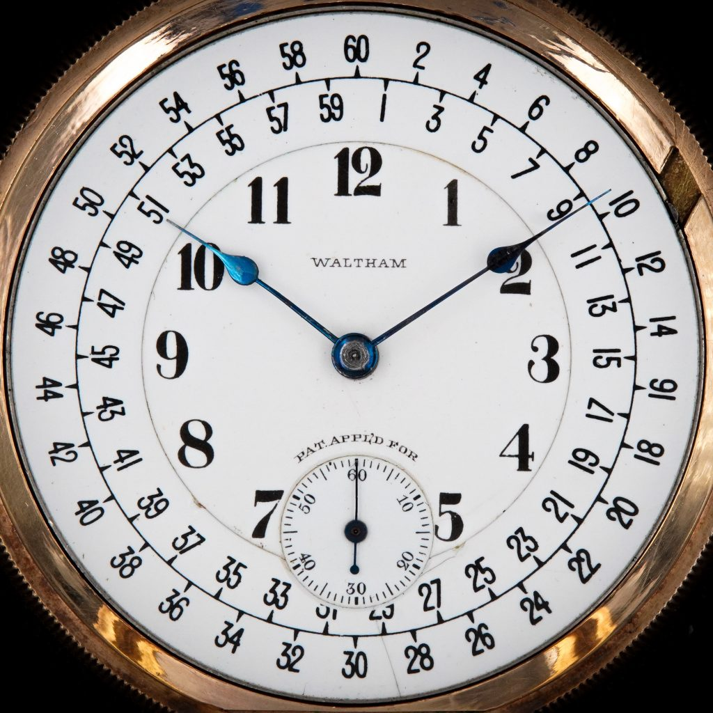 Waltham's Staggered Marginal Minute Dial, Attributed to Ezra C. Fitch, c.1900.