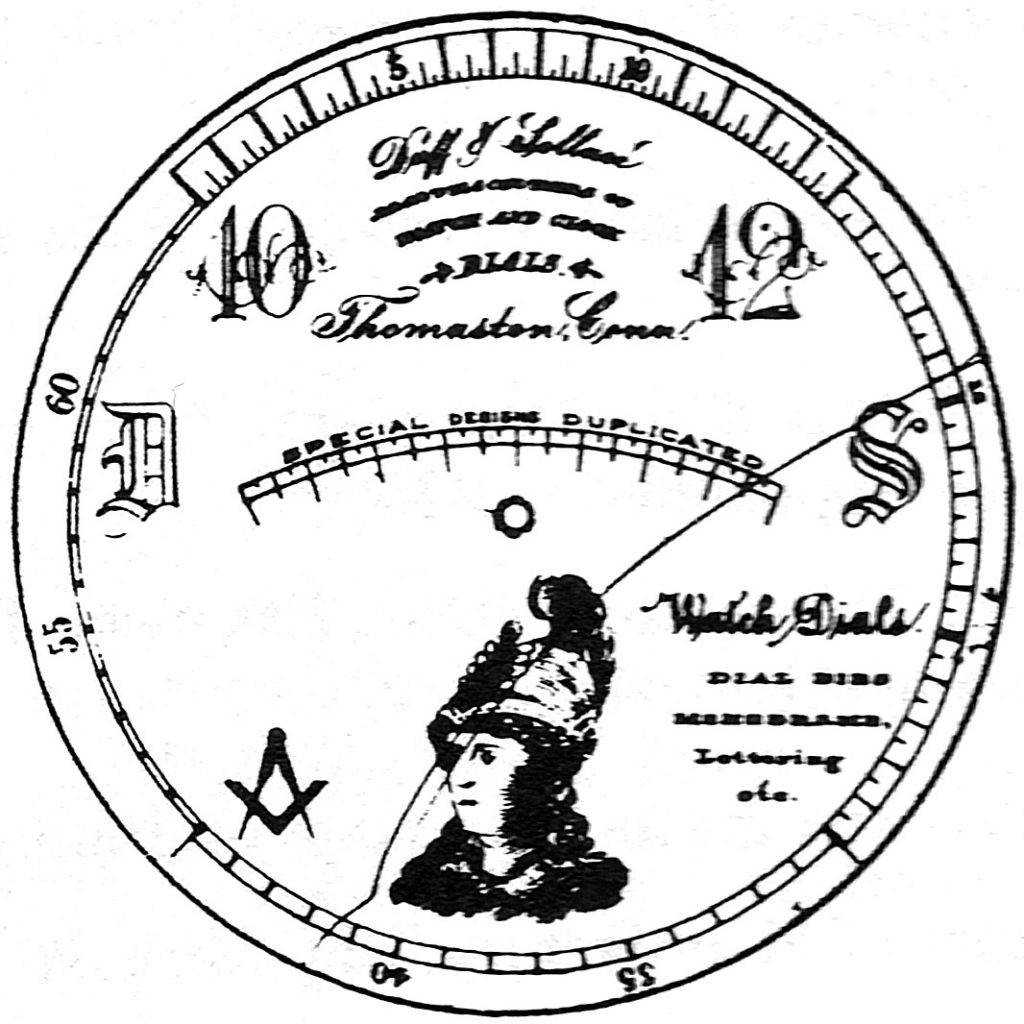 Duff & Sollace Dial Advertisement, c.1895 (Reproduced in Seth Thomas Watches, 1885-1915 by Chris H. Bailey)