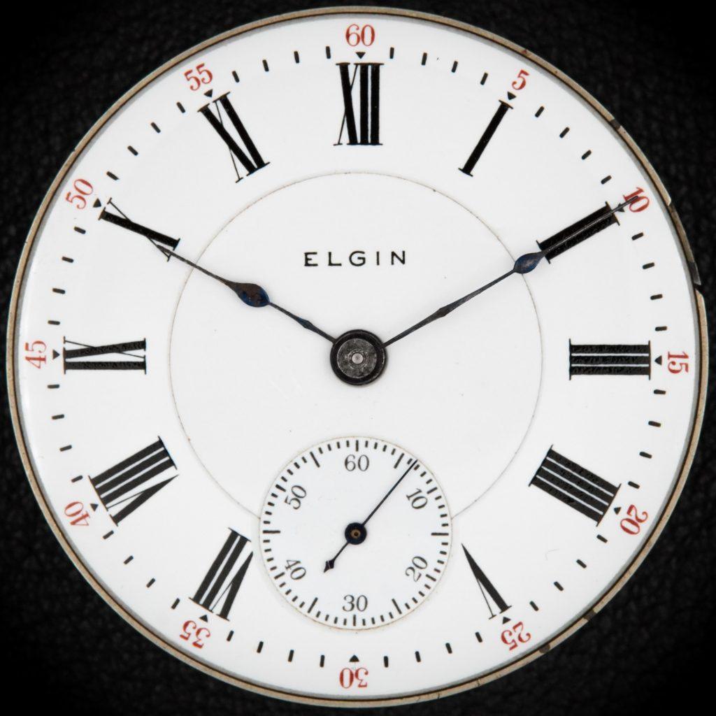 Elgin White Double-Sunk Enamel Dial, c.1900.