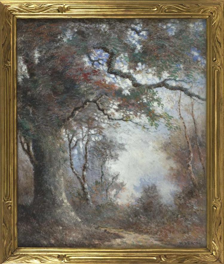 "WILLIAM SYLVESTER EATON, Sag Harbor, New York, 1861-1939, Spring landscape., Oil on canvas, 30"" x 25"""