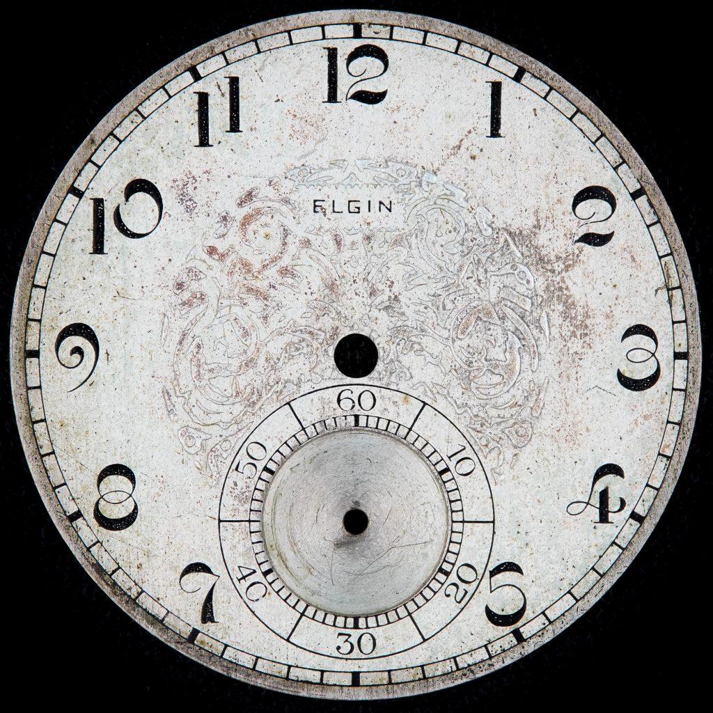 Elgin National Watch Company Metal Dial, c.1925