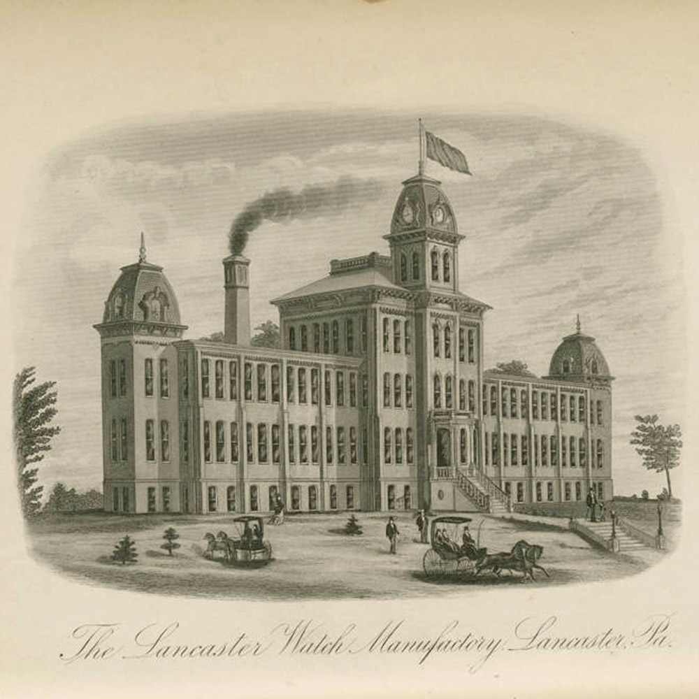 The Lancaster Watch Company Factory, Published in History of Lancaster County, Pennsylvania by Ellis and Evans, 1883