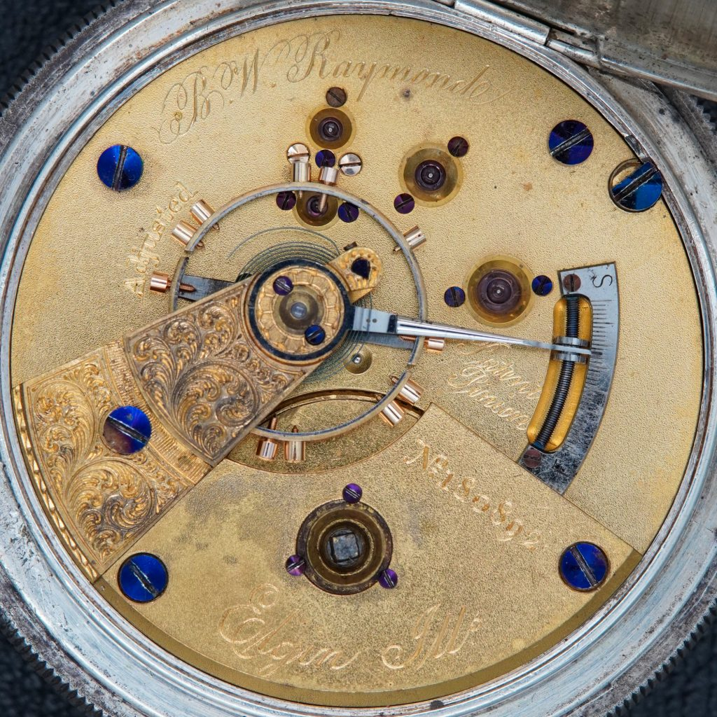 """B.W. Raymond #180892 with Double-Sunk """"Pennsylvania Railroad"""" Dial by the National Watch Company, c.1872."""