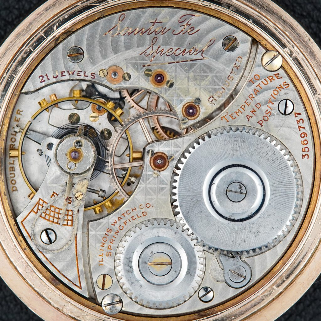 Santa Fe Special Watch Movement, Manufactured by the Illinois Watch Company, c.1919.