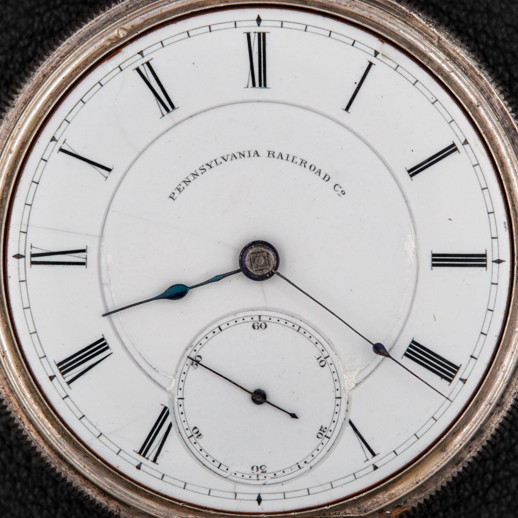 """Double-Sunk """"Pennsylvania Railroad"""" Dial by the National Watch Company, c.1872."""