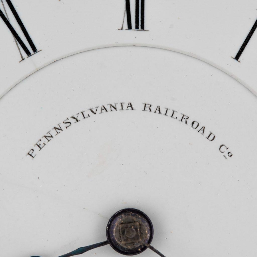 "Closeup. Double-Sunk ""Pennsylvania Railroad"" Dial by the National Watch Company, c.1872. [Elgin B.W. Raymond Movement #180892]"
