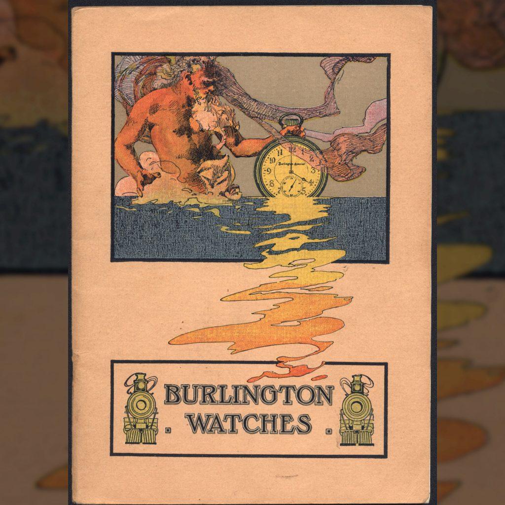 Burlington Watch Catalog Cover, c.1911.