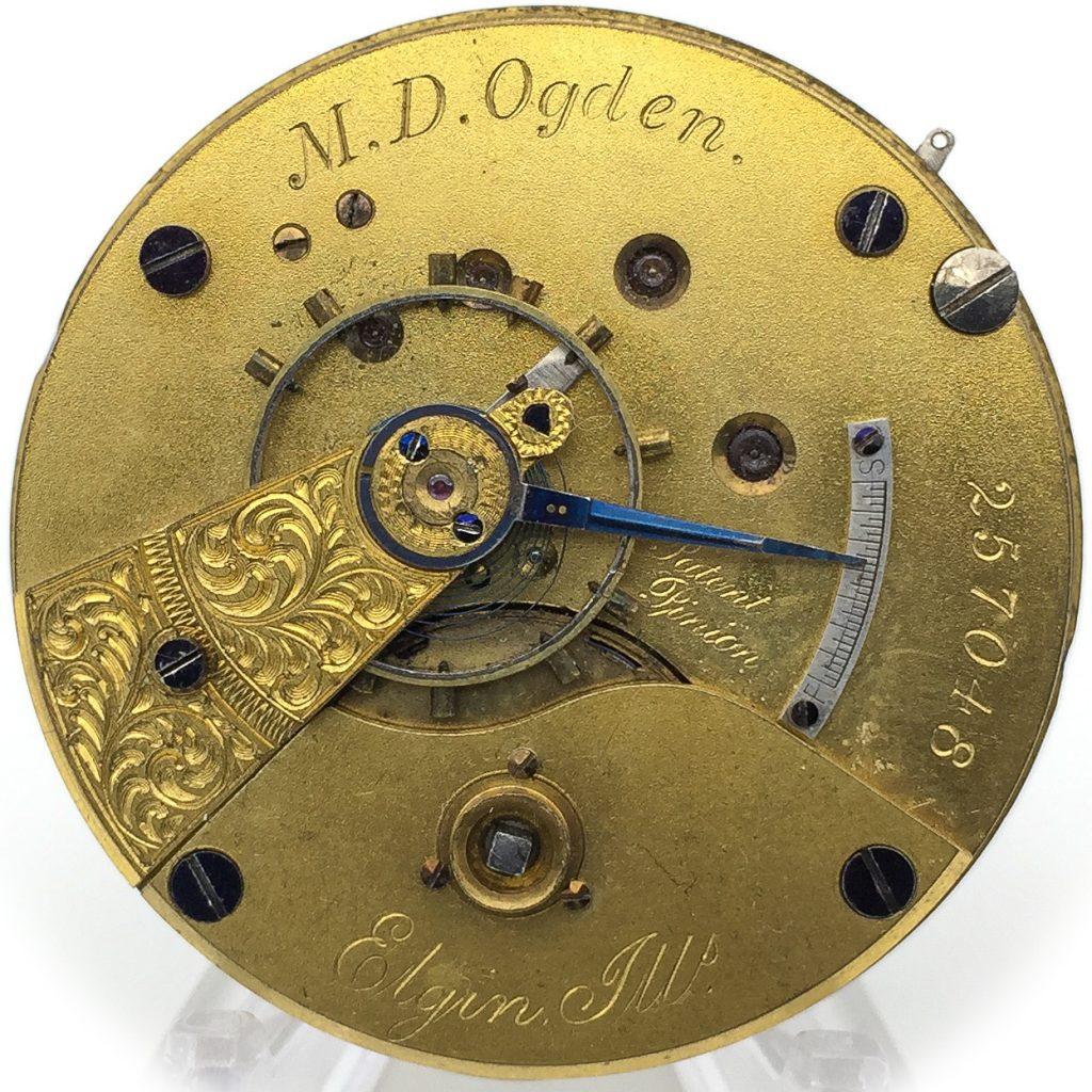 Pictured: Grade 8 M.D. Ogden Movement #257048, c.1873.